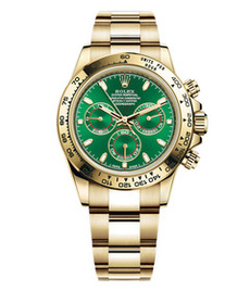 Rolex Daytona yellow gold with green dial