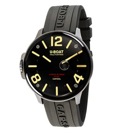 U-boat Capsoil 45mm steel with rubber strap