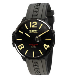 U-boat Capsoil 45mm DLC with rubber strap
