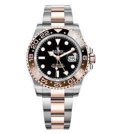 Rolex GMT Master II steel and gold everose with black dial