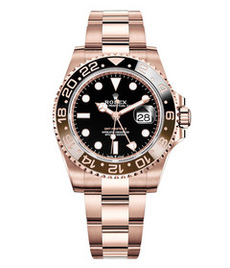 Rolex GMT Master II everose gold with black dial