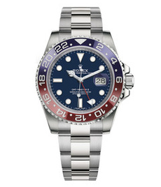 Rolex GMT Master II white gold with blue dial