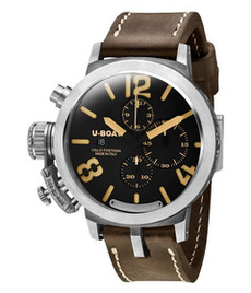 U-boat Classico Silver 48mm chrono with black dial