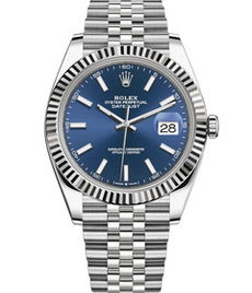 Rolex Datejust steel and white gold with blue dial 36mm