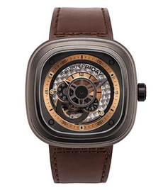 Sevenfriday-P2/01 Revolution black steel case