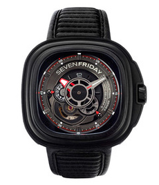 Sevenfriday-P3B/01 Engine black steel case