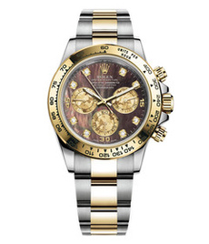 Rolex Daytona steel and gold with black pearl dial