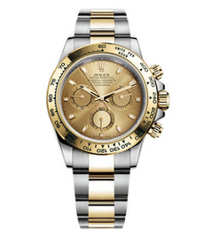 Rolex Daytona steel and gold with champane dial