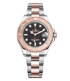 Rolex Yacht-Master steel and gold with black dial 37mm