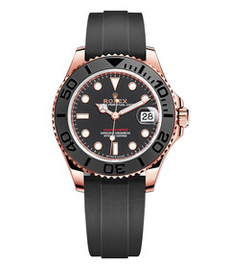 Rolex Yacht-Master rose gold with black dial 37mm