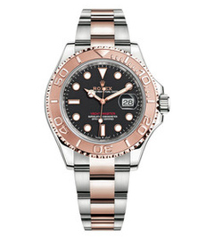 Rolex Yacht-Master steel and gold with black dial 40mm
