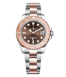 Rolex Yacht-Master steel and gold with choco dial 37mm