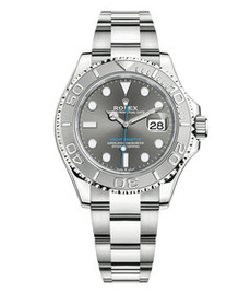 Rolex Yacht-Master steel and platinum with gray dial 40mm