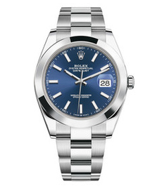 Rolex Datejust steel with blue dial 41mm