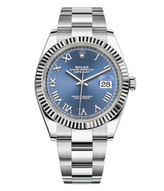 Rolex Datejust steel and white gold with blue dial 41mm