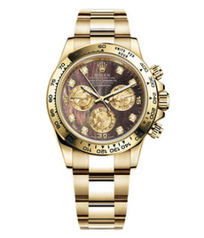 Rolex Daytona yellow gold with black pearl dial