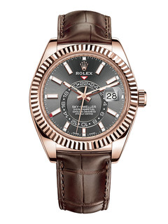 Rolex Sky Dweller rose gold with gray dial