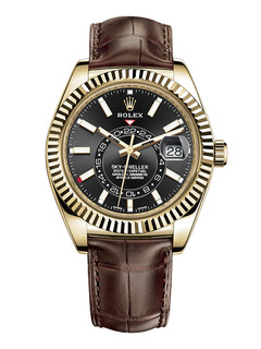 Rolex Sky Dweller yellow gold with black dial