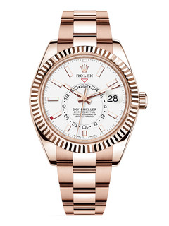 Rolex Sky Dweller rose gold with white dial