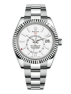 Rolex Sky Dweller steel and white gold