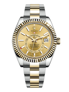 Rolex Sky Dweller steel and yellow gold