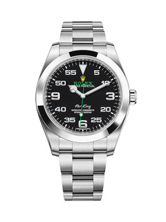 Rolex Air-King Steel with black dial 40mm