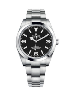 Rolex Explorer steel with black dial 39mm