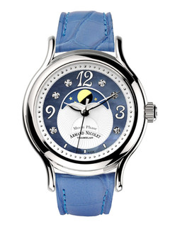 Armande Nicolet AL3 Moon phase steel 38 mm with pearl