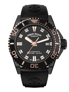 Armand Nicolet JS9 Date steel 41 mm with black dia