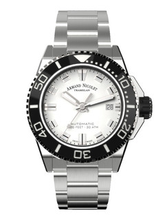 Armand Nicolet JS9 Date steel 41 mm with white dial
