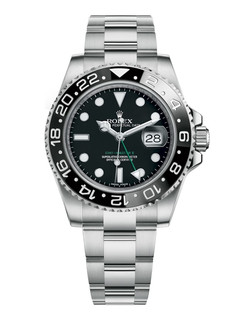 Rolex GMT Master II steel with black dial