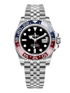 Rolex GMT Master II steel pepsi with black dial
