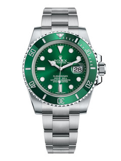 Rolex Submariner date hulk steel with green dial