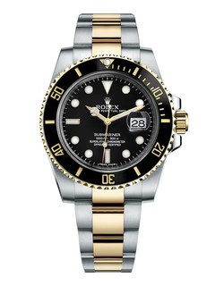 Rolex Submariner date steel and gold with black dial