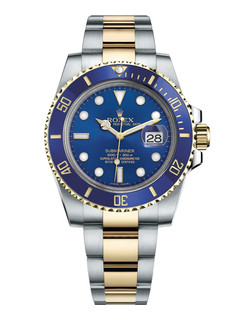 Rolex Submariner date steel and gold with blue dial