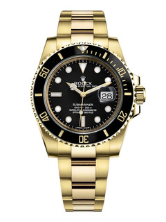 Rolex Submariner date yellow gold with black dial