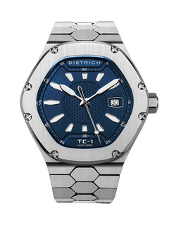 Dietrich Time Companion 1 steel with blue dial