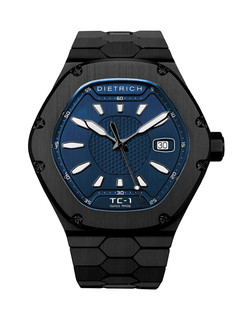 Dietrich Time Companion 1 steel PVD with blue dial