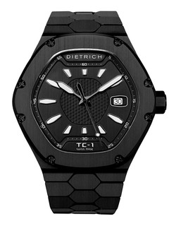 Dietrich Time Companion 1 steel PVD with black dial