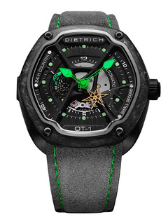 Dietrich organic time steel with green hands and carbon