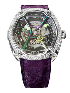 Dietrich organic time steel with diamonds