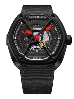 Dietrich organic time steel with red hands