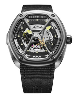 Dietrich organic time steel with light green hands
