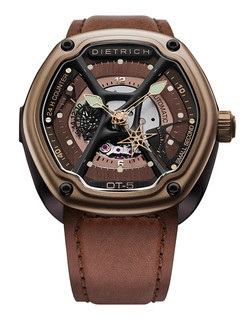 Dietrich organic time steel with bronze pvd