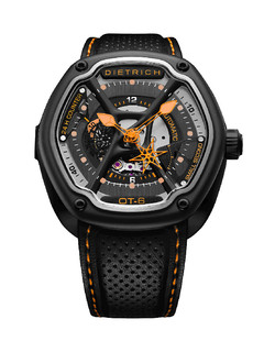 Dietrich organic time steel with orange hands