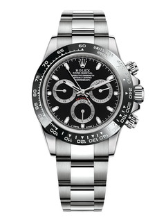 Rolex Daytona steel with black dial