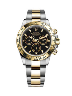 Rolex Daytona steel and gold with black dial