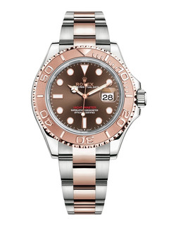 Rolex Yacht-Master steel and gold with choco dial 40mm