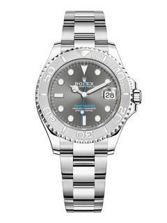 Rolex Yacht-Master steel and platinum with gray dial 37mm
