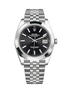 Rolex Datejust steel with black dial 41mm